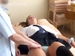 American college girl massage