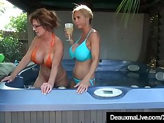 Busty Cougars Deauxma &amp_ Reside Tyler Corrode Pussy On Cam!