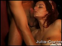 In the brothel there is blowjob and cumshot