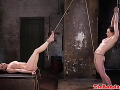Tiedup sub babes enjoying oral session