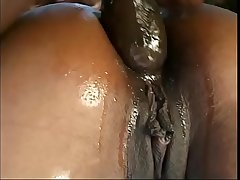 Stunning black whores are taking part in hard sex party near the pool