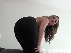 Jerk your cock while I joshing you in my yoga gadget JOI
