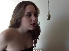 Brother Hypnotize Younger Teen Sister and Makes her Talk Dirty while Fucking