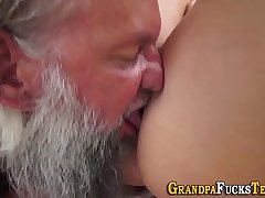 Teen drenched in old jizz