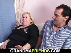 70 yo granny gives double freak then fucked
