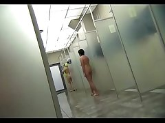 Female intimacy in s public shower room