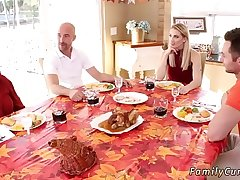 Dad accidentally cream pies companion'_ ally'_s daughter Spanksgiving