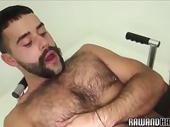 Handsome wolf cumcovered and drilled raw