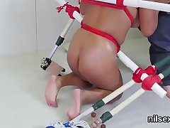 Sinful sweetie is taken in anal asylum for awkward therapy