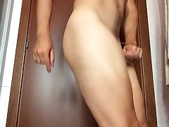 My cock growing fast when I insert object in my ass