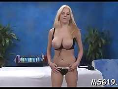Valuable girl with oiled ass bounces on dick moans with big o