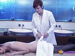 Lesbo Doctor Massages a Cutie