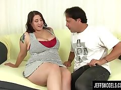 Full Figured Seductress Angel De Luca Uses Her Charms to Please a Hard Horseshit