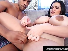 Thick Cuban Angelina Castro Titty Fucked By Big Black Cock!