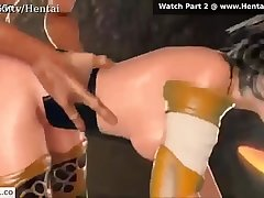 3D anime hottie assfucked by an alien
