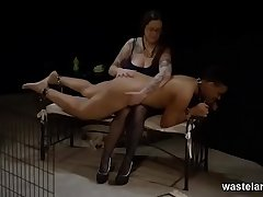 Femdom Play With BBW Mistress And Black Waiting upon