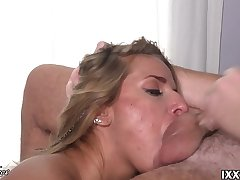 Sucking and licking the stinking balls Vira Gold and cum on my facet