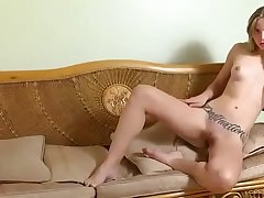 Tattooed Cam Petite Teen Scraping Pussy - FMS Specialization
