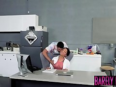 Dark doctor has her mouth filled with hot cum after fucking
