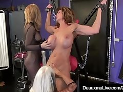 Cougar Deauxma Whipped In Cage &amp_ On Ill By Nina &amp_ Sally!