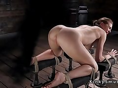 Slave drooling during torment in dungeon