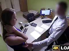 Amazing babe gets fucked by her loan deputy reluctantly