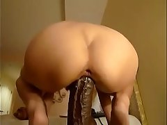 Big black cock and white ass