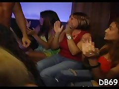 Pratty chick gets screwed in front of her friends.