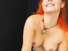 Have Beguilement With This Hot Redhead On Free Cam