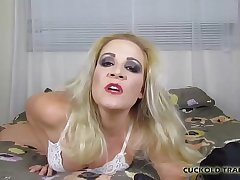 Watch me cum on a cock thats twice as big as yours