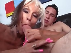 Horny granny gets pounded