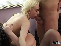 Horny lezzie hotties are opening up and fisting anuses