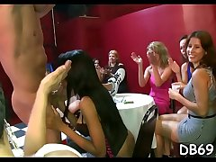 Pratty playgirl gets screwed in front of her friends.