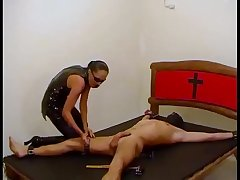 Christian Lady Straps Him Down