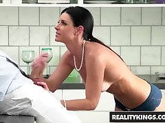 Perfect milf (India Summer) sucks stepson - Reality Kings