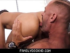 Horny Step Dad Fucks Step Son After Being Green-eyed Of His New Boyfriend