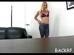 Steaming sexy missy bonks the brush agent and yearns for a facial