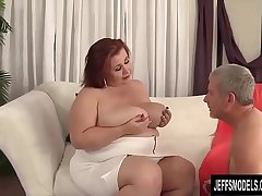 Busty BBW Little one Lynn Blows and Tit Fucks a Guy and Then Screws Him