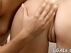 Babes finger moist pussies and tight anal holes before camera